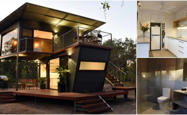 This Two Story Shipping Container House Is A Modern Dream
