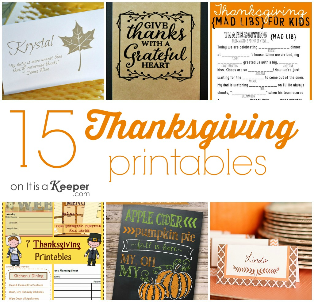 Thanksgiving Mad Libs Worksheet