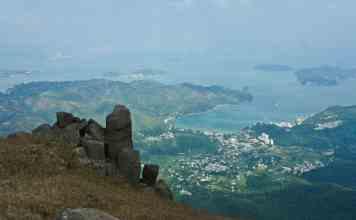 Silver Mine Bay seen from Lin Fa Shan | 蓮花山眺望梅窩銀鑛灣