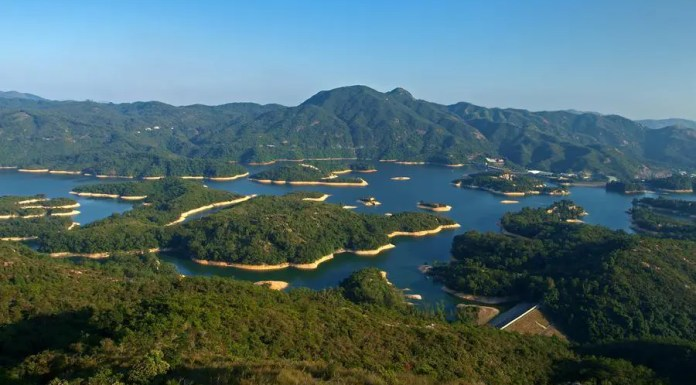 Tai Lam Chung Reservoir at Tai Lam Country Park 大欖郊野公園大欖涌水塘