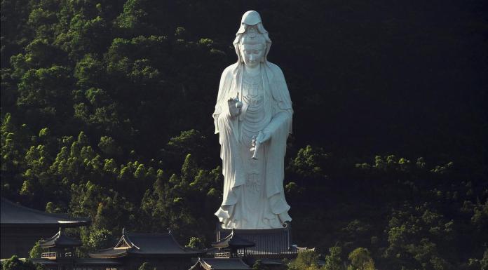 World's Tallest Bronze Statue Of Guanyin at Chi Shan Temple built by Li Ka-Shing 慈山寺觀音像