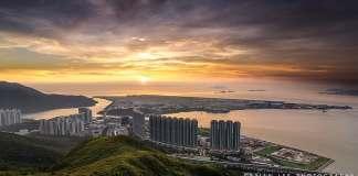 Tung Chung and Hong Kong International Airport