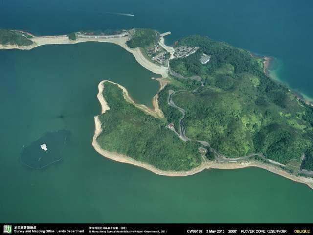 Bird View of Plover Cove Reservoir at HK| 香港船灣淡水湖鳥瞰圖
