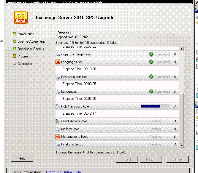 Exchange 2010 SP3 Hangs on Hub Transport Role