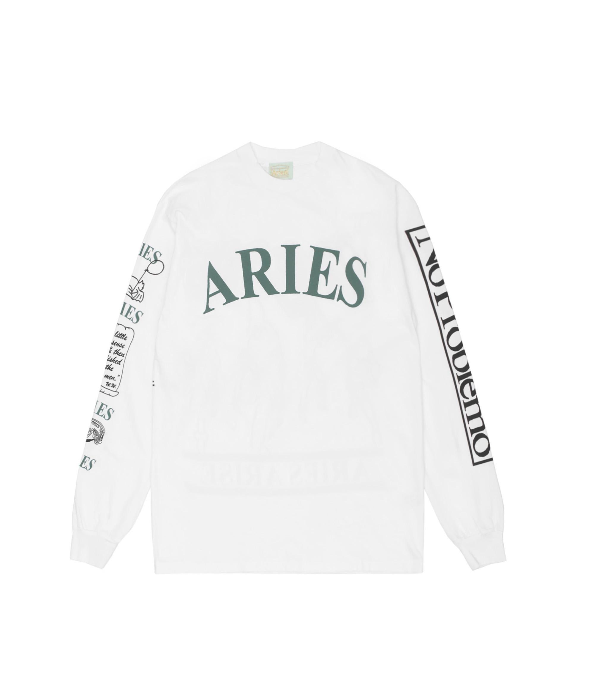 Shop Aries Warriors Ls T Shirt Whte At Itk Online Store