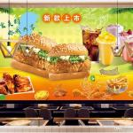 3d Room Wallpaper Cloth Custom Photo Hand Painted Burger Food Restaurant Background 1645969 Hd Wallpaper Backgrounds Download