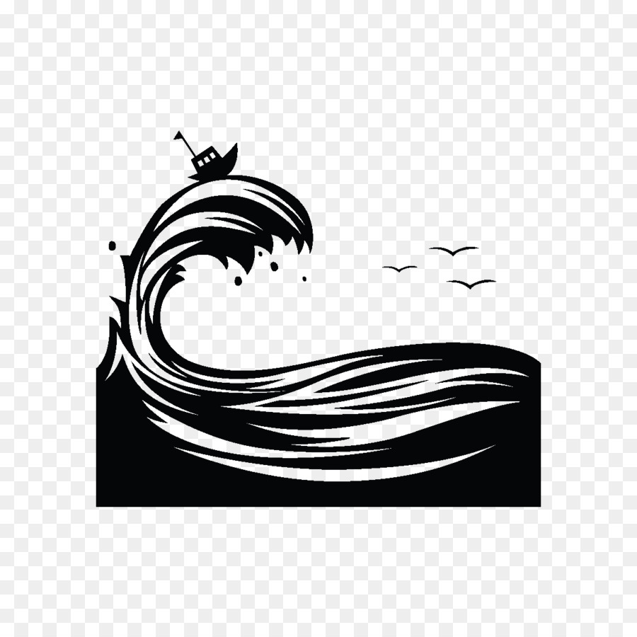 Silhouette, Wind Wave, Wave, Computer Wallpaper