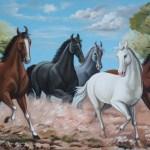 Seven Running Horse Wallpaper Running Horse Painting Vastu 853416 Hd Wallpaper Backgrounds Download