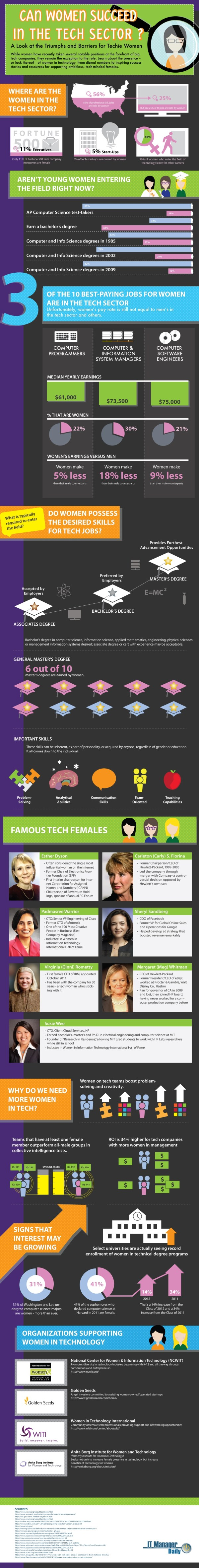 Women In Technology Infographic Triumphs And Barriers