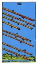 THE EIGHTS OF WANDS