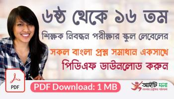 6th to 16th NTRCA School Level Bangla Question Solutions PDF Download