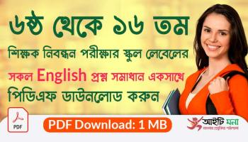 6th to 16th NTRCA School Level English Question Solutions PDF Download