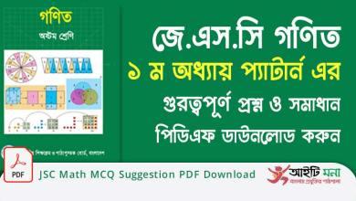 JSC Math MCQ Suggestion PDF Download
