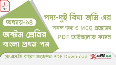 jsc-bangla-1st-paper-mcq-suggestion-pdf-download-chapter-14