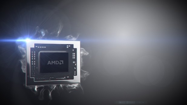 6th Generation A-Series Processors codenamed CARRIZO - with AMD logo and spotlight