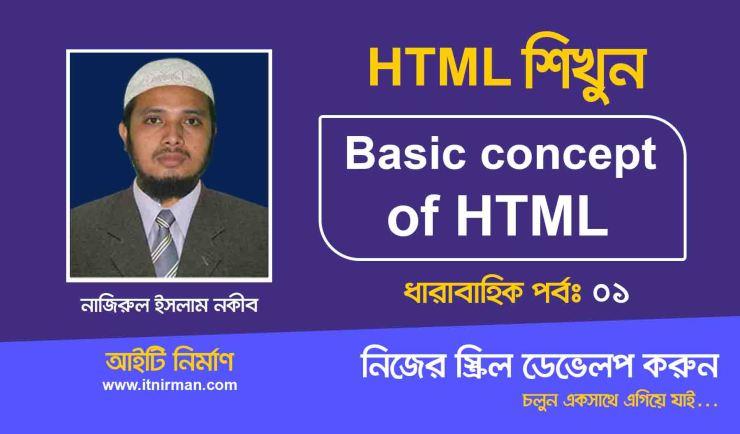 Basic concept of HTML