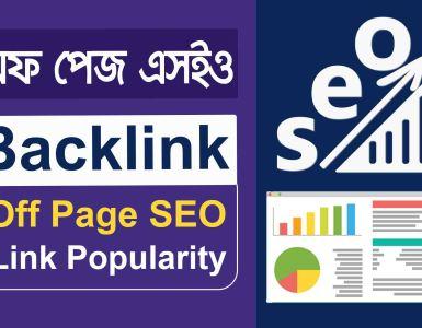 Off Page SEO Backlink অন পেজ এসইও ব্যাকলিংক