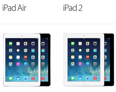 ipad air vs ipad