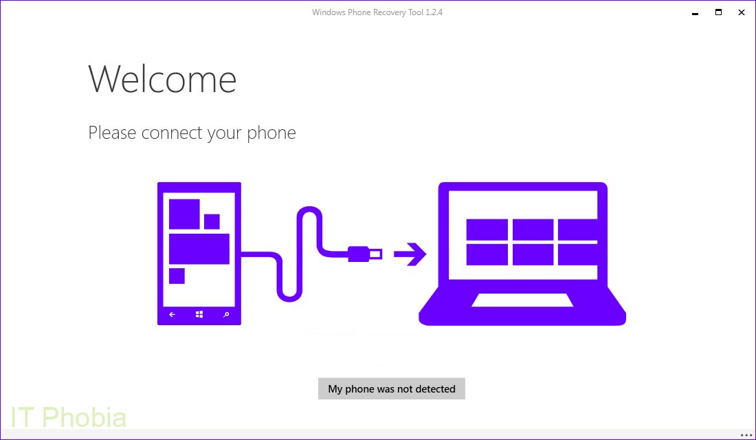 Windows Phone Recovery Tool - Connect Phone with PC