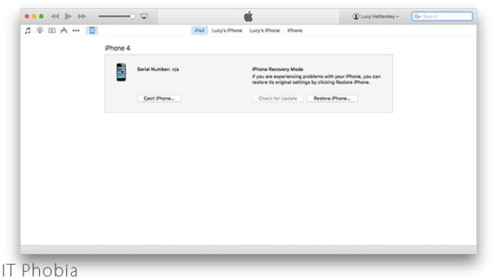 iPhone DFU Mode iTunes