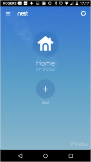 Nest Learning Thermostat 3rd Generation Nest App Home Add