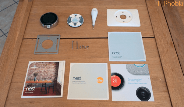 Nest Learning Thermostat 3rd Generation full package items
