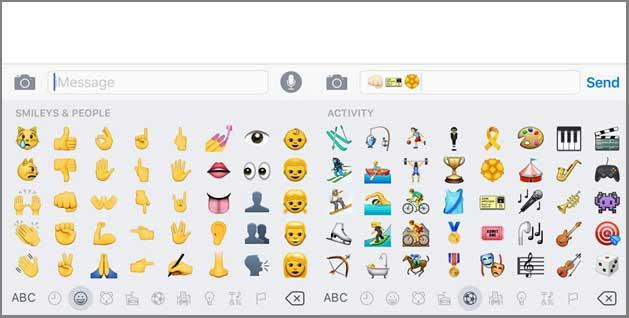 iPhone Emoji Keyboard Built-in-keyboard