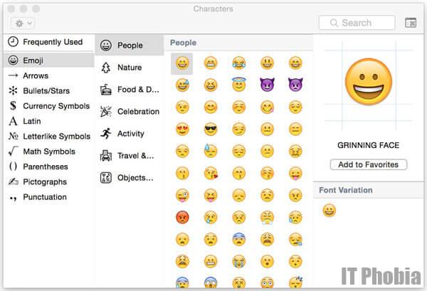iPhone Emoji Keyboard for OSX Macbook