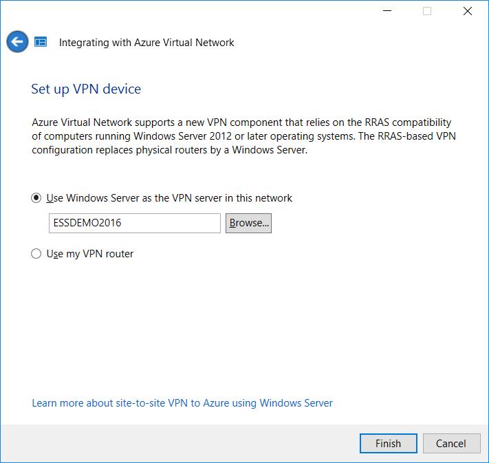 2016 Essentials Integration: Azure Virtual Network, part 1