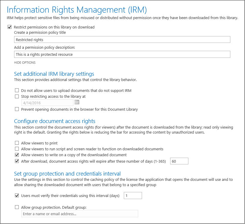 How to Enable Information Rights Management for SharePoint