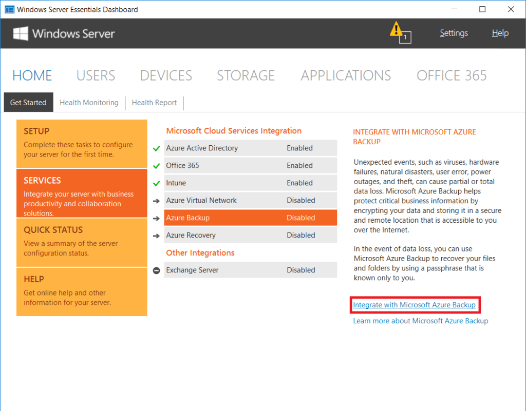Migrating File Shares from SBS to Windows Server 2016