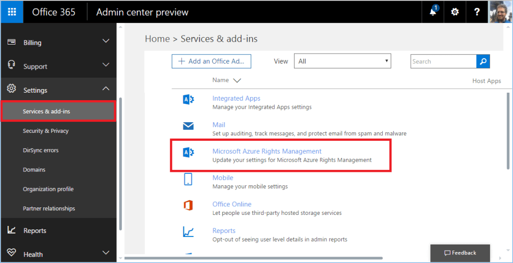 How to activate azure information protection for office - Rights management services office 365 ...