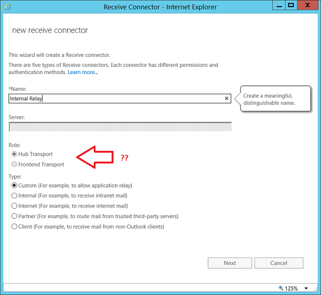 How to create an Anonymous relay connector in Exchange 2016