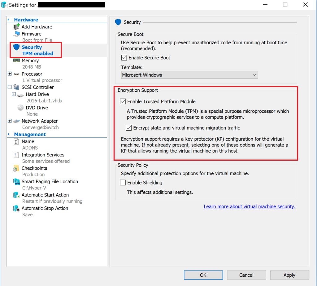 How to Encrypt your Hyper-V Guest VM's using the GUI – ITProMentor