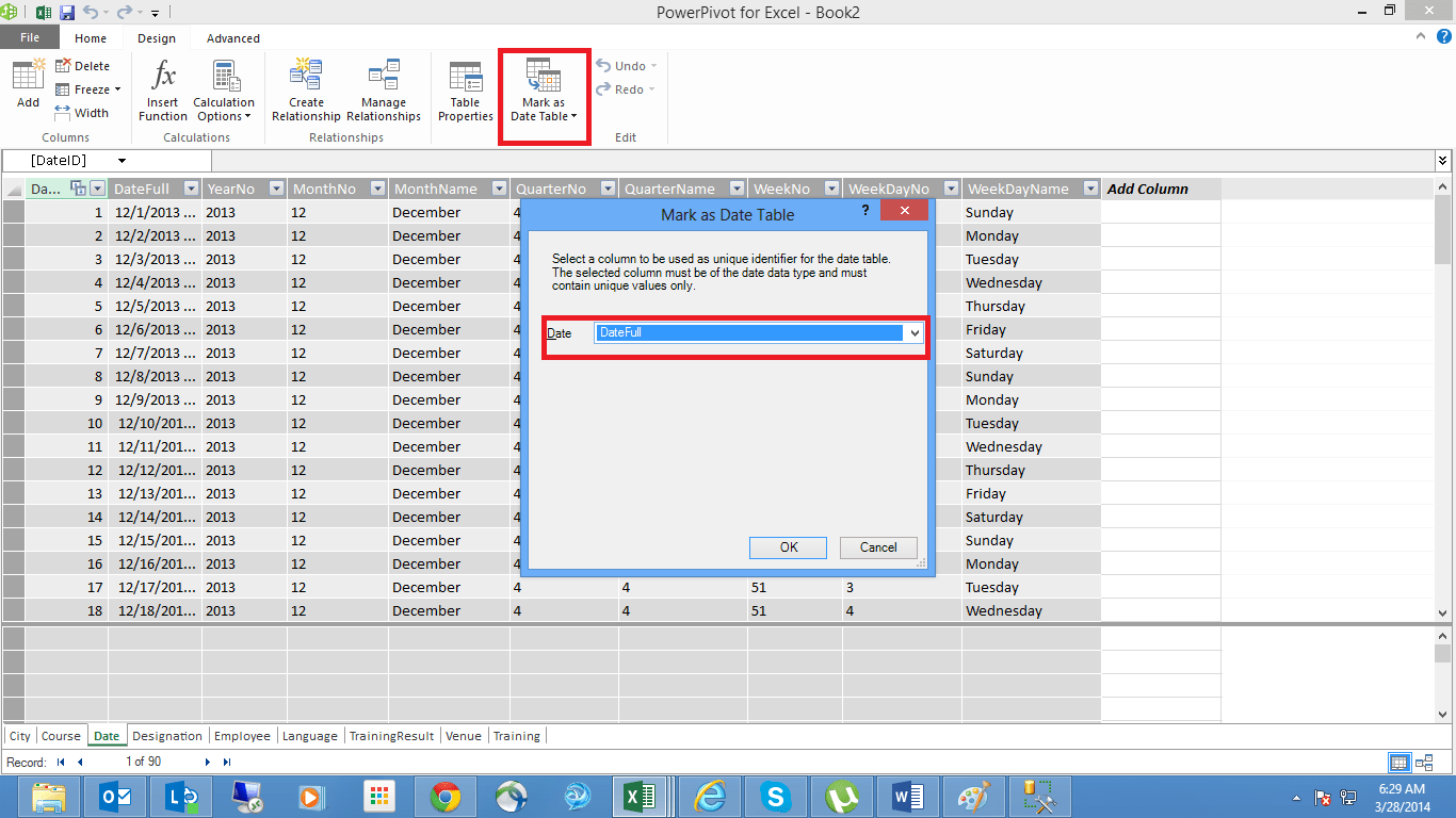 Creating A Power Pivot Data Model In Excel