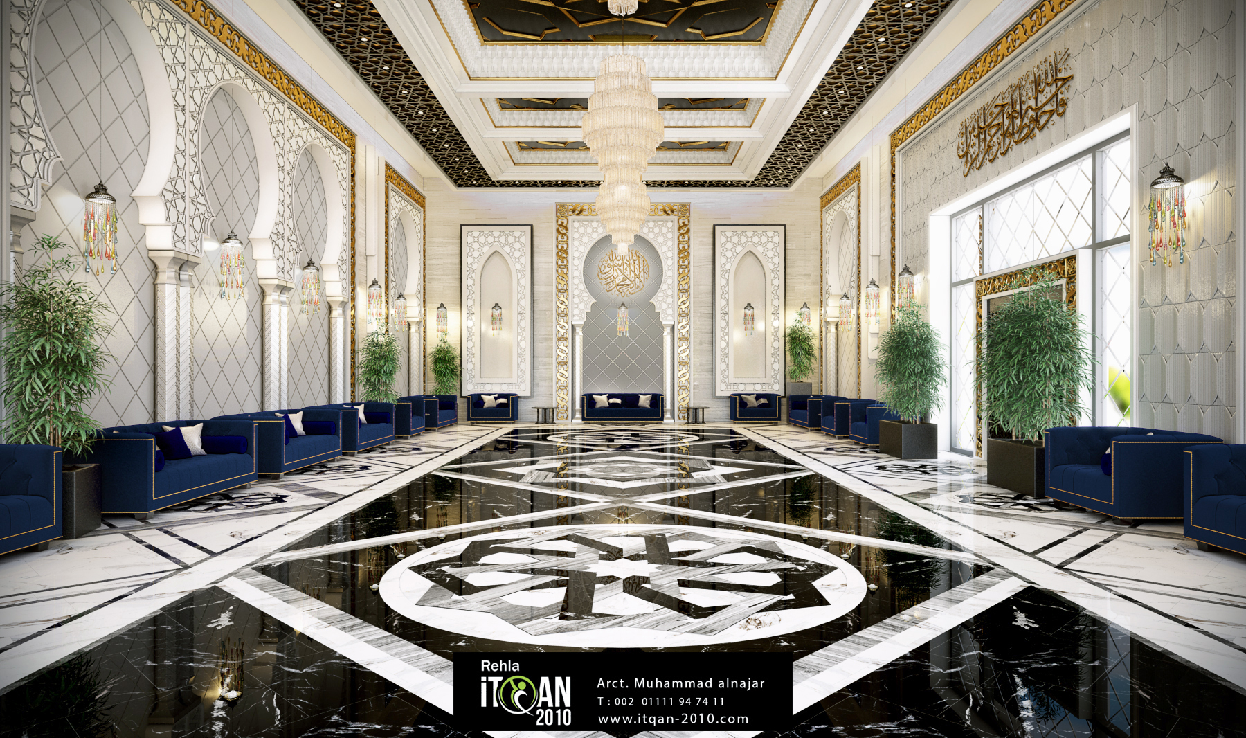 Islamic luxury majles  Large reception area  ITQAN2010