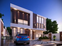 Modern Facade Design Small Villa - Modifying Existing