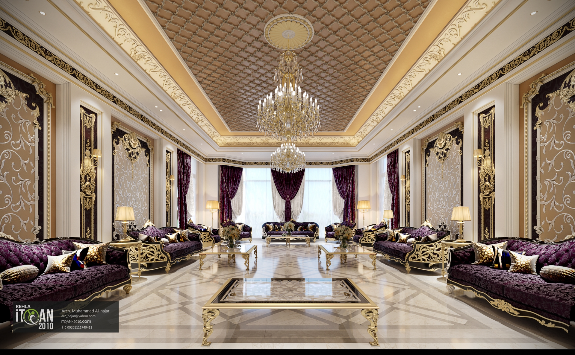 Classic Majles Royal Style With Golden Touch Uae