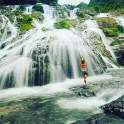Doing a tree pose at the waterfalls  during my #backpacking #trip in #Calbayog #Samar #Philippines  #TarangbanFalls #waterfalls #chasingwaterfalls special thanks to S&R Bed and Breakfast at http://srbedbreakfast.blogspot.com and @eazytraveler for this shot. #yoga #yogapose #treePose #vriksasana #vriksasanaPose #asana #bikini #sexyback #bikinibabe #naturelover #nature