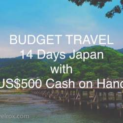 budget travel 14 days japan with us$500 cash on hand