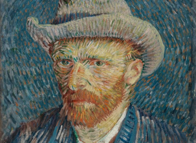Van Gogh Portrait - pointillism art