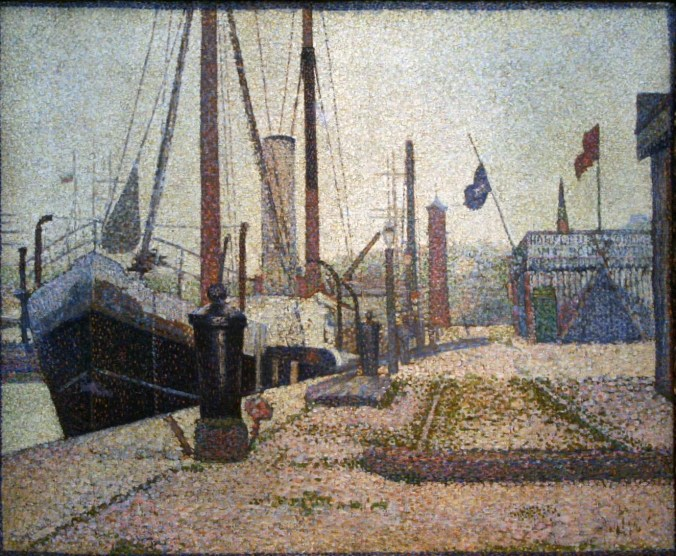 The Harbour of Honfleur - Georges Pierre Seurat