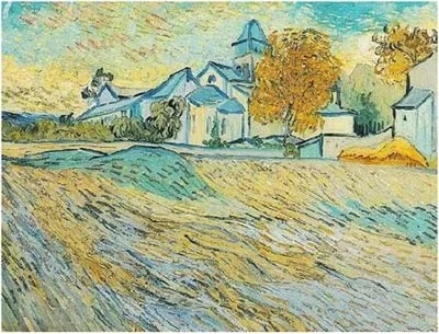 an Gogh's painting of the Asylum