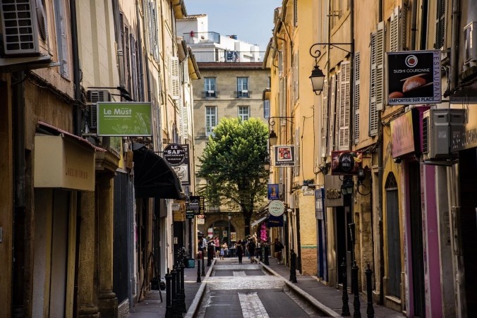 Photo of the streets of Aix-en-Provence
