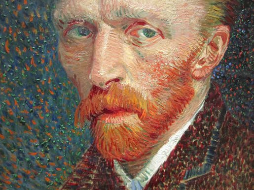 Self Portrait of Van Gogh using the Pointillism technique
