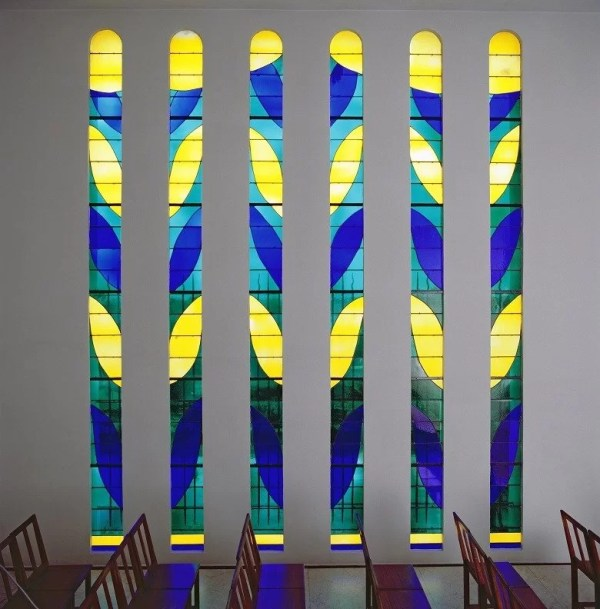 Stained Glass Windows designed by Matisse in the Chapel of Vence