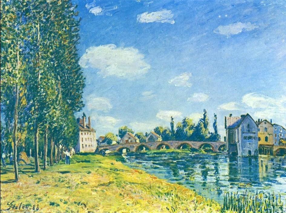 Bridge of Moret - Alfred Sisley