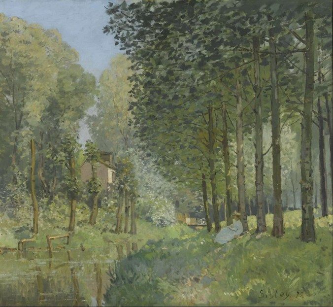 In the Woods - Alfred Sisley paintings
