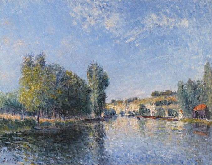 The Loing River - painted by the French landscape painter, Alfred Sisley