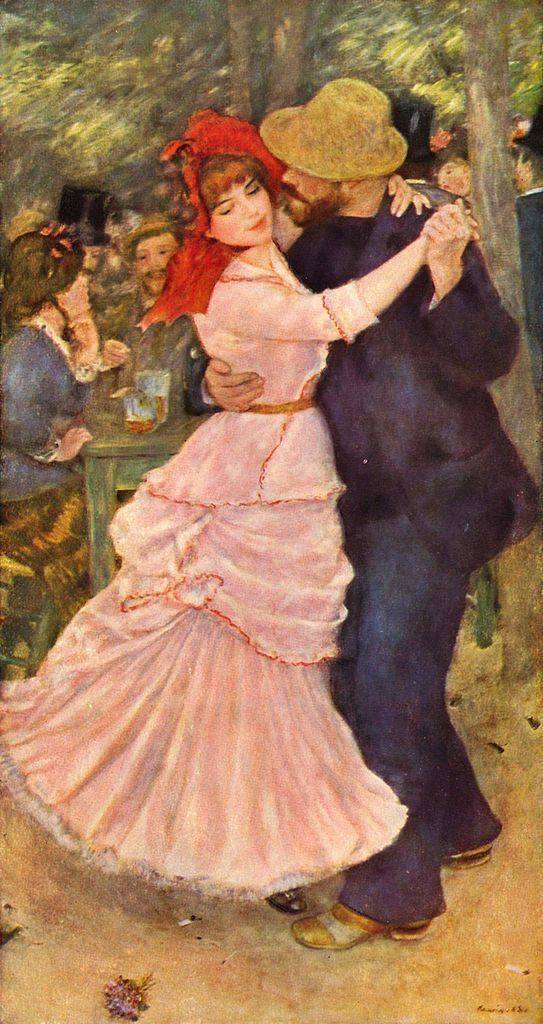 "Renoir's painting ""Dance at Bougival"" - Female model is Suzanne Valadon"